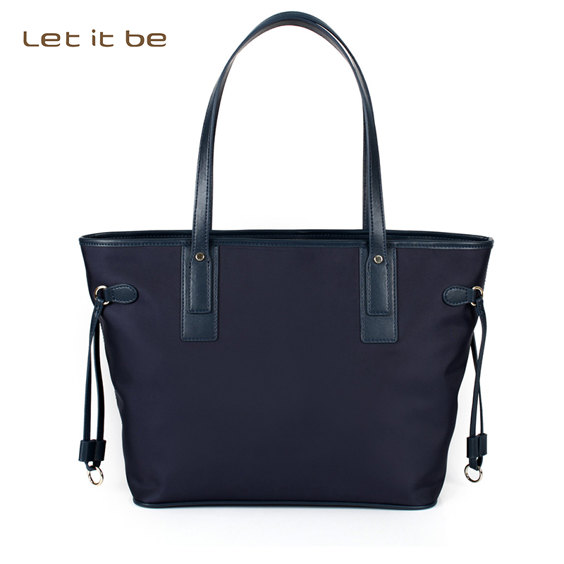 Let it be casual tote for teenagers waterproof nylon spacious light weight handbag leather strap oxford travel designer bolsas<br>