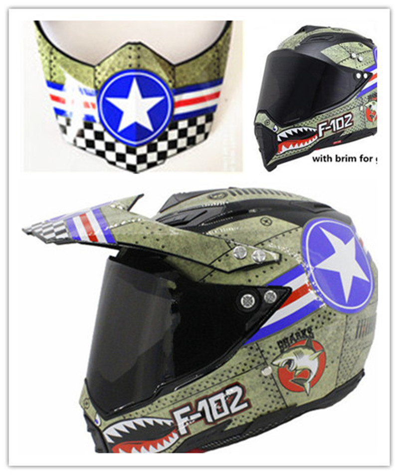 Motorcycle helmet vintage America Captain Protection Helmet Open ...
