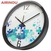 Airinou Creative memory puzzle series wall clock, living room clock factory supplier(China)