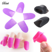 Bittb 5Pc Nail Polish Remover Soak Off Cap Nail Gel Remover Wrap Kit Manicure Pedicure Silicone Fixing Cleaner Cap Nail Art Tool