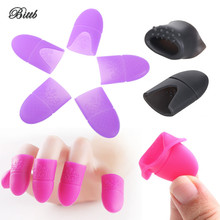 Bittb 5Pc Nail Polish Remover Soak Off Cap Nail Gel Remover Wrap Kit Manicure Pedicure Silicone Fixing Cleaner Cap Nail Art Tool(China)