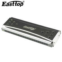East Top Harmonica Tremolo Diatonic 10 24 Holes Mouth Organ Instrumento Blues Harp Both Side Key C G Musical Instruments Easttop(China)