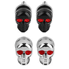 New Arrival 2PCS/Pair Motorcycle Car Accessories Skull License Plate Frame Bolts Screw Fastener