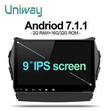 uniway AIX459071 android7.1.1 car dvd for Hyundai IX45 Santa fe 2013 2014 car radio stereo navigation(China)