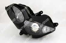 Clear Universal Motorcycle Headlight Headlamp Replacement Driving Fog Spot Moto Head Light for Kawasaki ZZR 1400/ZX14R 2006-2011