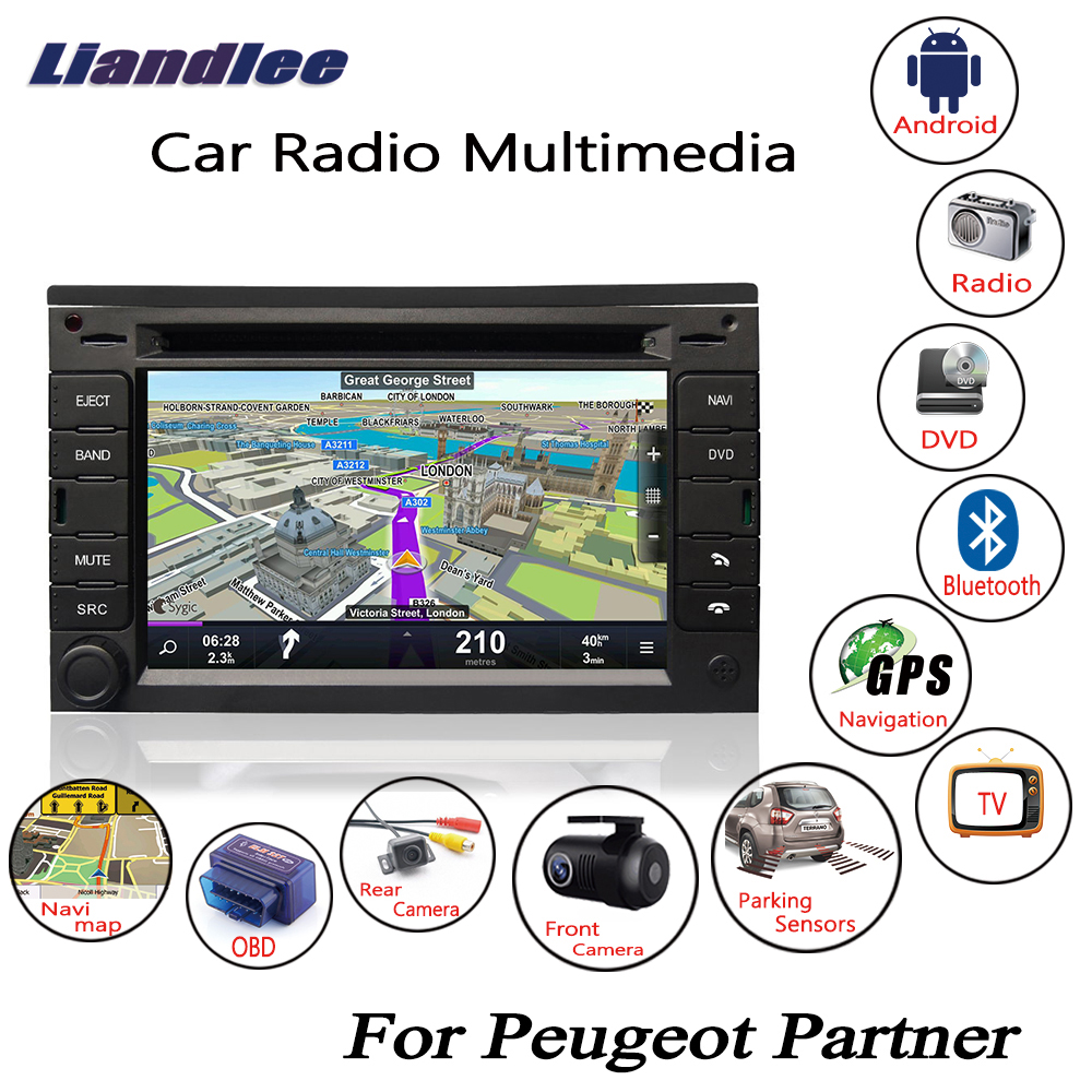 Liandlee For Peugeot Partner 2008~2017 Android Car Radio CD DVD Player GPS Navi Navigation Maps Camera OBD TV Screen Multimedia1