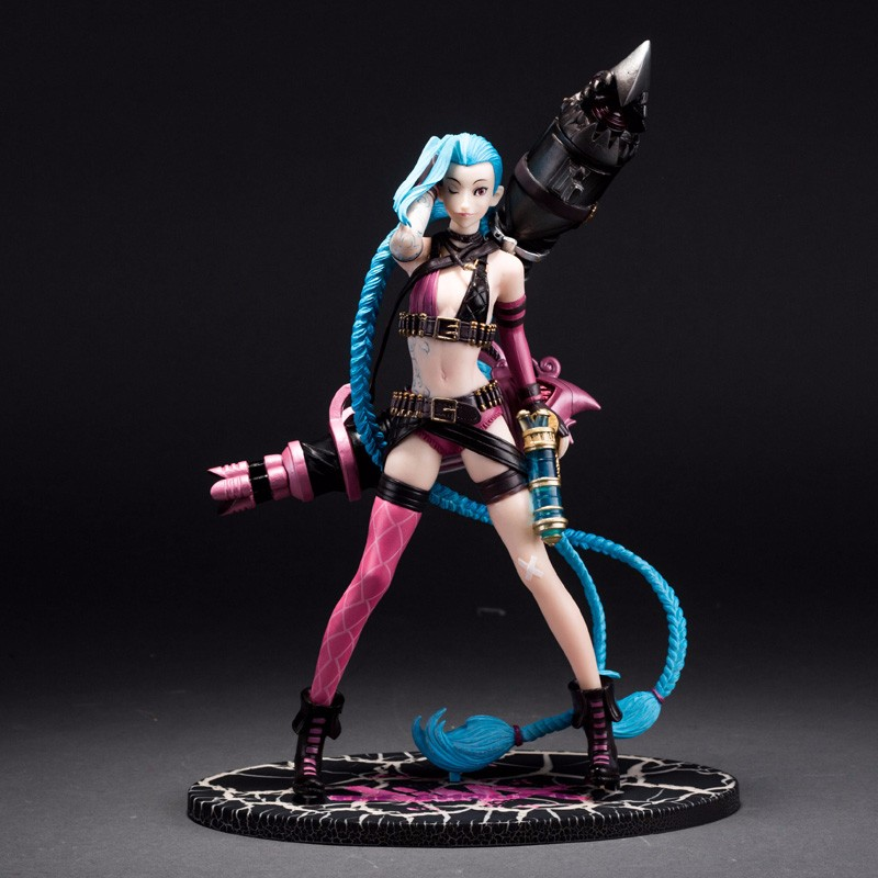 24cm LOL Sucker Punch jinx Game Anime PVC Action Figure Toy for gift Model Collection Toys With Box WL005<br><br>Aliexpress