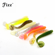 10Pcs 7cm 2g Mixed Colors Artificial Maggot Worm Fishing Lure Soft Bait Freshwater Lure Fishing Accessories Dropshipping