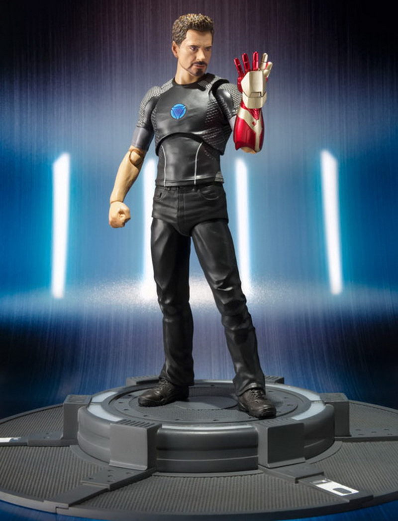 18cm Avengers Assemble Iron Man 3 Tony Stark Animated Doll Super Heroes PVC Action Figure Collection Model Toys (3)