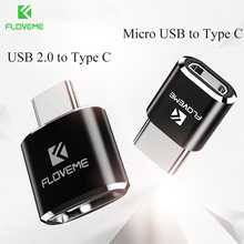FLOVEME Type C OTG Adapter For Galaxy Note 8 Micro USB/USB Female to Type-C Male Converter Adapter For Mobile Phone Tablet PC(China)
