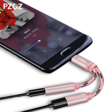Pzoz audio cable type c High Quality headphone adapter Type-C to 3.5mm Earphone Microphone for Xiaomi Mi6 Letv Le 2 Pro Max 2