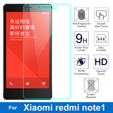 0.26mm Front LCD Explosion-proof Tempered Glass Film For Xiaomi Hongmi Note1 redmi note 1 9H Screen Protector pelicula de vidro(China)