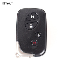 KEYYOU Replacement Shell 4 Buttons Smart Remote Key Fob Case For Lexus GS430 ES350 GS350 LX570 IS350 RX350 IS250 + Blank Key