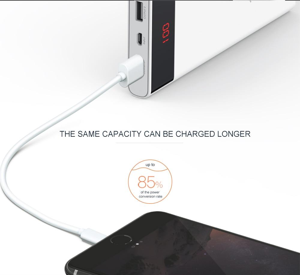 ARUNJ120 Li-polymer Battery PowerBank12000mAh LED Lights External Battery 2 USB LCD Power Bank Portable Charger (7)