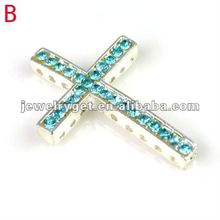 Sideway Cross Jewelry Bracelet accessories, western pendants for jewelry making charms ,p-638(China)