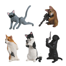 Japanese Original capsule toys funny spy animal American Shorthair MaineCoon corgi puppy kitten pet dog cat Gashapons figures