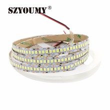SZYOUMY 2835 1200 5M LED Strip SMD Flexible Light 240led/m Indoor Non-Waterproof Warm White / White DHL UPS FEDEX