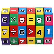 Colorful 6 Layers Intelligent Puzzle Playing Cube Numbers and Signs Children Fun Education Learning Math Toy for Children Gifts
