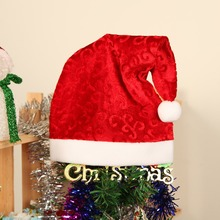 1 Pc Christmas Hats Velvet Ordinary Adult Cap Christmas Party Santa Claus Hat Atmosphere Christmas Tree Decoration Ornament