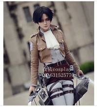 Shingeki no Kyojin Eren Jaeger Attack on Titan Rivaille cosplay costume cloak set
