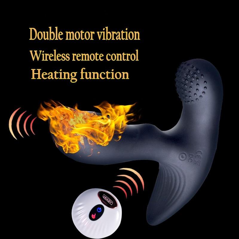 YEAIN NEW Prostate Massager Heating Anal Plug Wireless Remote Male G-spot Anal Stimulation Vibration Prostata Massage Sex toys<br>