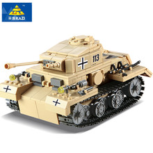 KAZI 548pcs Century Military German no. 3 G Tank Cannon Building Blocks Educational Toys building bricks(China)