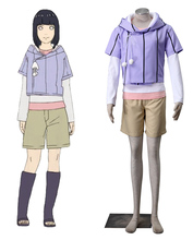 Free Shipping Boruto: Naruto the Movie Hyuga Hinata Mother Suits Anime Cosplay Costume/Cosplay Wig