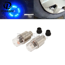 2PCS Car Air Bule LED Valve Cap Stem Lights Lighting Car Tires Wheel Valve Cap Bike Moto Tyre Rim Valve Caps Dust Covers
