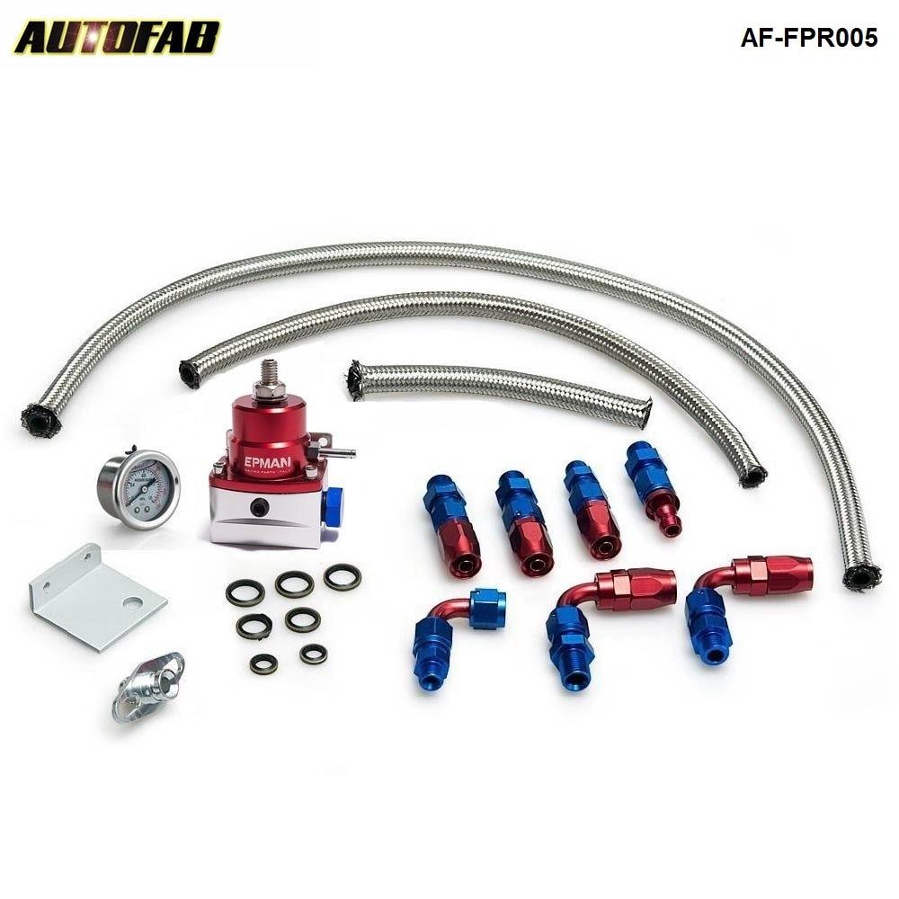 Universal Adjustable Fuel Pressure Regulator Kit Oil 0-160psi Gauge Universal -6AN For Honda Accord 03-05 AF-FPR005