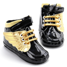 2016 New Cute Baby Shoes Wings Design Toddler Newborn Baby Infant Footwear First Walker Boots 11 12 13cm