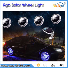 Solar Energy wheel hub light Colorful Car Tyre Light LED Wheel lamp conversion kit RGB Car warnling light car styling