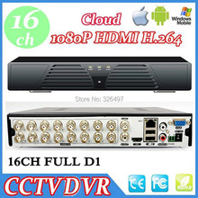 Home Security DVR 16 Channel Full D1 HDMI 1080P Output 16CH h.264 Network Video Recorder DVR System Onvif P2P Cloud