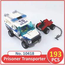 BELA 10418 Compatible City Figures Brick Prisoner Transport Vehicle 60043 Building Blocks Legoed Toys For Children(China)