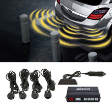 KKmoon 4 Sensors Parking Assist System Car Parking Sensor Reverse Radar Alert Wireless LCD Display