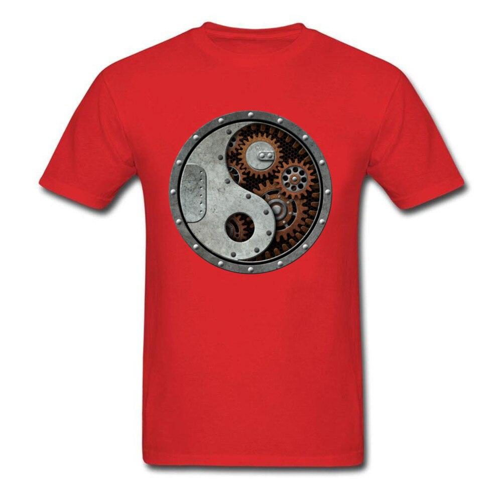 Industrial Steampunk Yin Yang_red