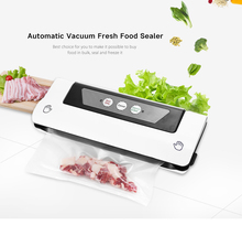 Electric Vacuum Food Sealer Automatic Vacuum Packing Plastic Sealing Machine Home Kitchen Appliances Fresh Food Saver with Bags(China)