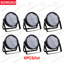 SONGXU 6pcs/lot 186X10MM Great Show Effect RGBW LED Plastic Par Light LED Par Cans LED Par 64 Stage Effect Light/SX-PL18610