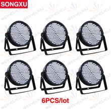 SONGXU 6pcs/lot 186X10MM Great Show Effect RGBW LED Plastic Par Light LED Par Cans LED Par 64 Stage Effect Light/SX-PL18610(China)