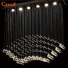 Modern LED lustre Crystal Celling Light Fixture Crystal Ceiling Lamp Prompt Shipping Design For Dinning Room kitchen Lighting(China)
