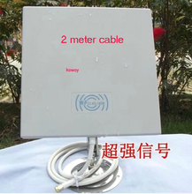 14dB 2.4GMHz Wireless WiFi WLAN Outdoor Panel Antenna with 2 meter cable 1pcs/lot