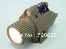 OP M6 65Lm Xenon Tactical Flashlight & Red Laser Sight Tan(China)