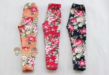 2015 New  Children's Girls Flower printed  Leggings , Winter girls' leggings, Wool dress leggings 3colors  Free shipping