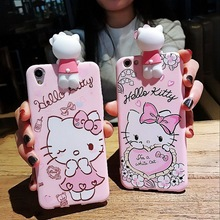 Luxury 3D Hello Kitty Case For iPhone 6 6s 7 Plus Funny Cute Cartoon Daisy Cat Soft Silicon Kawaii Phone Case Girl Cover Coque(China)