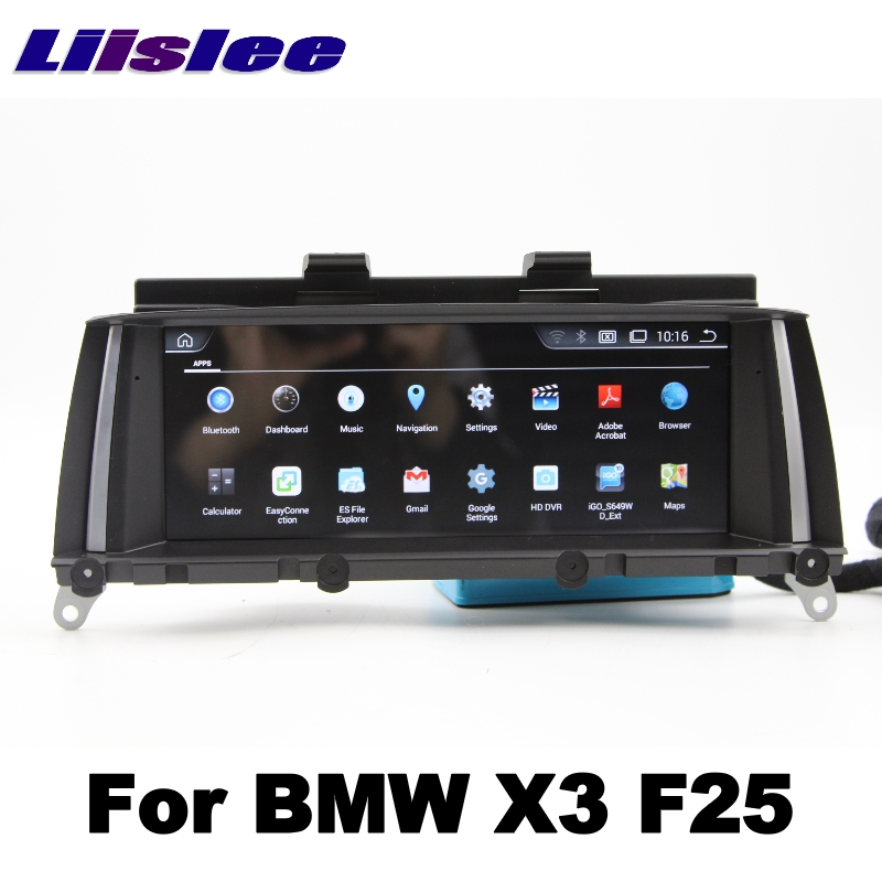 For BMW X3 F25 2011~2013 LiisLee Car Multimedia GPS Audio Hi-Fi Radio Stereo Original Style For CIC Navigation NAVI 03