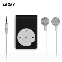 LEORY Mini Mp3 Music Player Support Micro TF Card Protable Slot USB MP3 Sport Player USB Port With Earbuds For Iphone Android(China)