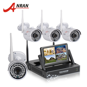 ANRAN Plug And Play Wireless CCTV System NVR Kit 7 Inch LCD Screen P2P 720P HD 36 IR WIFI IP Camera Outdoor Security Camera