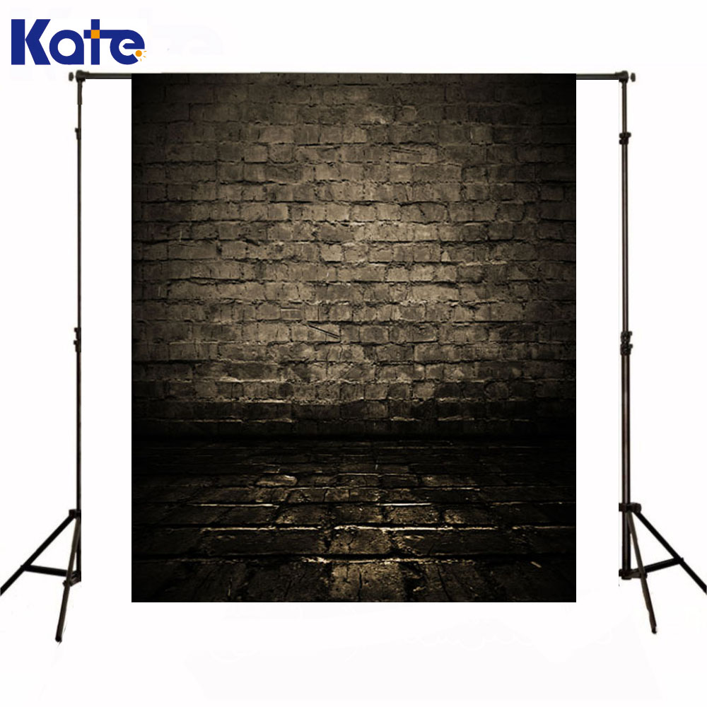 Kate Photography Background Newborn Baby Brown Brick Wall Backdrops Dark Color Floor Background For Photo Shoot<br>