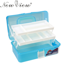 3 Layer Multi Utility Storage Case professional Nail Art box manicure kit nail tool Makeup box large size #60kj