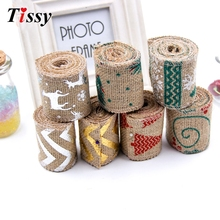 Buy 1PC 2M Christmas Burlap Jute Burlap Rolls Hessian Ribbon Vintage Christmas Ribbon DIY Craft Christmas/Wedding Party Decoration for $1.96 in AliExpress store