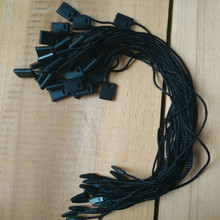 Black polyester cords for tags durable ropes Garment Hang tag strings t shirt/dress New(China)